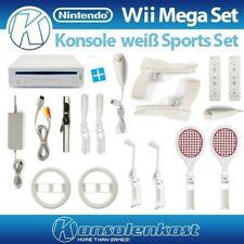 Nintendo Wii MegaSet: Konsole + 2 Spieler + Sports and Fun Zub. Set!
