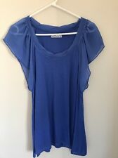 Pre-loved Ladies size 16 Lovely Blue Summer Top by Hot Options