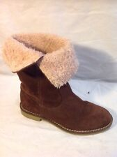 Girls Zara Brown Suede Boots Size 31