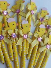 24 pcs Baby shower Duckling favor pens for girl