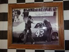 Richard Petty #43 STP driver & car Picture with autograph framed NEAT