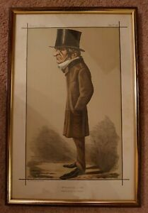 Antique Framed 1898 Vanity Fair Ape Print William Ewart Gladstone Prime Minister