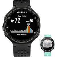 Garmin Forerunner 235 GPS Watch with Heart Rate Monitor Black + Screen Protector