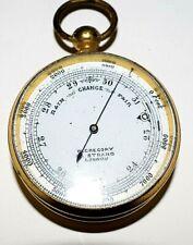 Victorian 1897 W.Gregory Pocket Altimeter/Barometer in its Original Case