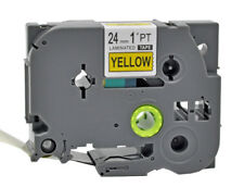 Black on Yellow TZe-651 TZ 651 P-Touch Compatible Brother Label maker Tape 24mm