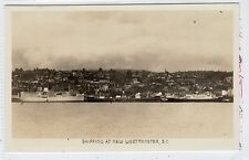 SHIPPING AT NEW WESTMINSTER: British Columbia Canada postcard (C22732)