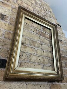 Gorgeous Antique Gold Gilt on Ribbed Gesso Base Picture Frame, Large & Chunky