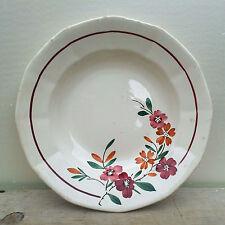 Piatto antica, decoro floreale, Francese antico arte popolare buone condizioni