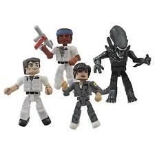 Alien 35th Anniversary 4 Figure Minimates Set Ripley Kane Parker Big Chap MOC