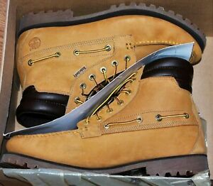 New in Box Timberland Oakwell 7-Eye Moc Toe Mens Wheat Work Boots 72540 Size 15
