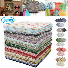 50/100Pcs Quilting Bundle Patchwork Cotton Fabric Handmade DIY Sewing Crafts USA