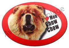 """Magnet chien """"J'aime mon Chow Chow"""" pour frigo / voiture idée cadeau NEUF"""
