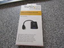 Startech.Com Hd2vgaa2 Hdmi Male To Vga Female Video Converter With Audio For Des