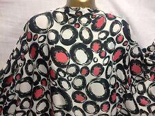 *NEW*L/Weight Liquid Satin Circles-Designer Print Dress/Craft Fabric*FREE P&P*