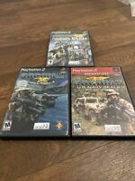 SOCOM 3 Game Lot US Navy Seals Combined Assault -  PS2 Playstation 2 Tested