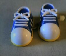 Vintage 1980 Adidas style wind up toy bobo knock off shoes three stripes