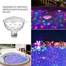 Bathtub Underwater Floating Bath Lights RGB Colorful LED Lazy Spa Disco Lamp