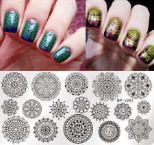 BORN PRETTY Nail Art Stamp Plate Manicure Image Template Floral Pattern BP-L051
