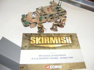 Corgi skirmish Quad .50 half track france 1944 c/w 3 figures