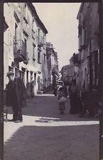 Rue de Taormina Italie Italia Vintage citrate Photo H.B. Tate 1904