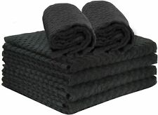 """6-Pack Talvania Kitchen Towels 100% Cotton Dobby Weave Terry Towel Set 15"""" X 25"""""""