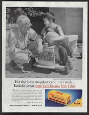 1957 Vintage Print Ad 50's KODAK verichrome pan film photography family play
