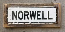 Norwell Clippers Massachusetts Vintage Framed Metal Street Sign Home Decor