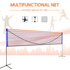 6M Portable Badminton Volleyball Tennis Net Set with Stand/Frame Carry Bag AU