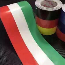 1M Car PVC Body Sticker Italian Flag Stripes Decal Self-adhesive Removable Top