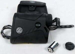 Sig Sauer KILO850 Laser Rangefinder 4x20mm Digital w/Storage Case, Lanyard Black