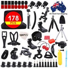 178pc Accessories Pack Case Chest Head Bike Monopod Surf for GoPro Hero 5 4 3 2