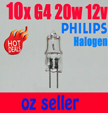 10x Philips g4 20w 12v clear Essential halogen bulb light Globe white