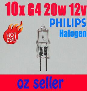 10x Philips g4 20w 12v clear Essential halogen bulb light Globe white
