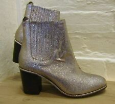 OPENING CEREMONY UK6 pink gold multi glitter disco party ankle boots BNWOB