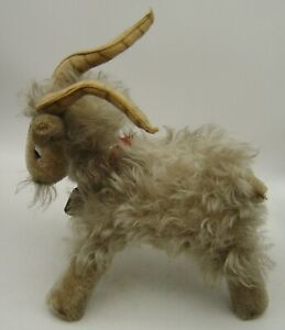 vintage 50s Schuco Mohair Mountain Sheep Ram Goat with bell