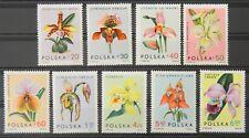 - Polen Poland 1965 Mi. Nr. 1612-1620 ** postfrisch MNH Orchids, Blumen flowers