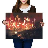 A2 | Fantasy Forest Boat River - Size A2 Poster Print Photo Art Cool Gift #14030