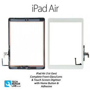iPad Air (1st Gen) Complete Front Glass/Digitiser Touch Screen Assembly - WHITE