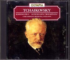 Evgeny SVETLANOV: TCHAIKOVSKY Suite No.1 & 4 Mozartiana OLYMPIA CD Tschaikowski