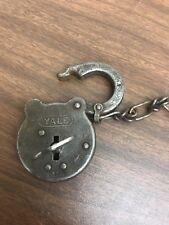 Vintage Yale Lock with key.  Works
