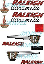 Raleigh Ultramatic RM9 & RM9+1 FULL SET Self Adhesive Vinyl Decal vintage moped