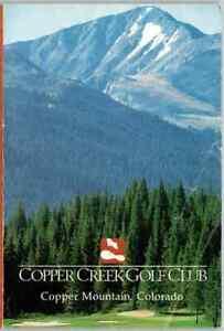 VINTAGE scorecard Copper Creek Golf Club, Colorado, USA