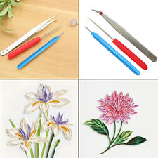 3PCs/Set Paper Quilling Tools Origami DIY Needles Slotted Cardmaking Hand Craft