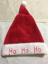 Christmas 2017 Party Santa Hat  Red/White Print Ho Ho Ho Size 17 Inch