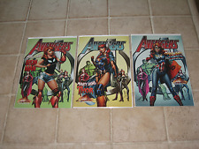 Avengers 8 J Scott Campbell Set of 3 NM unsigned