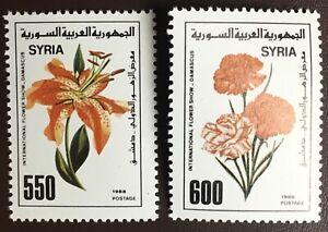 Syria 1988 Flowers MNH