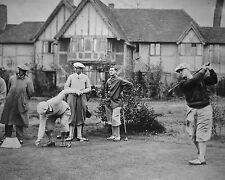 Bobby Jones 1930 golf photo teeing off overseas