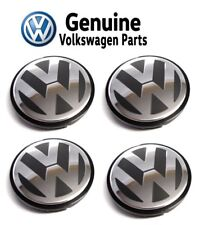 For Volkswagen Golf Beetle Gas Set of 4 Alloy Wheel Center Caps OEM Genuine