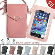 For iPhone 11 Pro XS Max XR 8 7 6 Touchable Pouch Phone Case Leather Change Bag
