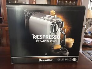 Breville Nespresso Creatista Plus Coffee Machine - Silver (BNE800BSS) - NIB